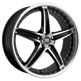 18 inch Motegi Racing MR107 Black Wheels 5x4 25 5x108