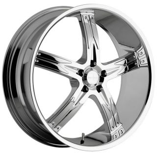 20 inch Devino Flawless Chrome Wheels Rims 5x120 35