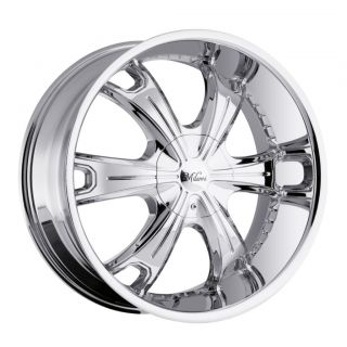 22 inch Milanni Stellar Chrome Wheels Rims 5x135 15