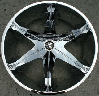 Dub Big Homie 3 26 Chrome Rims Wheels GMC Envoy 6x127 Rainier 26 x 9