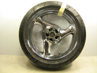 RF 600 1994 RF600R 600R REAR RIM WHEEL TIRE STRAIGHT CHROME 17X5 50