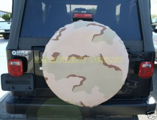 Camo Spare Tire Cover for RVs Trailers SUVs 3 Color VG