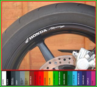 Honda Racing Wheel Rim Decals Stickers CBR Fireblade VFR VTR Hornet