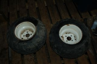 Magnum Trail Boss ATV BOTH REAR RIMS AND TIRES WHEELS