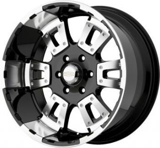 20 inch DIAMO 17 Karat Black Wheels Rims 5x5 5 5x139 7 Dodge RAM 1500