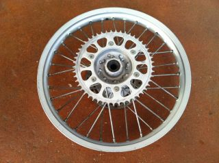 HONDA CR 125 250 CR125 CR250 OEM REAR WHEEL * RIM HUB SPOKES SPROCKET