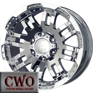 17 Chrome Vision Warrior Wheels Rims 8x165 1 8 Lug Chevy GMC Dodge