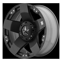 20 inch 20x8 5 Black Rockstar XD Rims 8 Lug Wheels Dodge RAM Chevy GMC