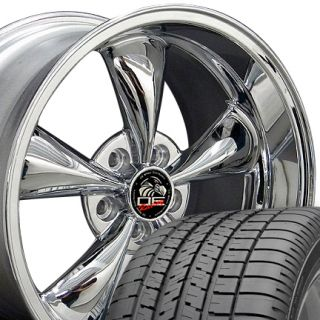 Chrome Bullitt Style Wheels Goodyear F1 Tires Rims Fit Mustang 05 Up
