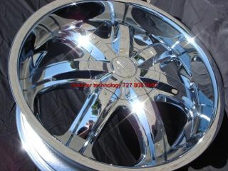 26 Wheels Rims Package Free Tires Borghini B7 Chrome F150 Navigator