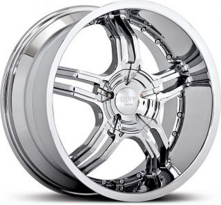 20 inch Ruff Racing 930 Chrome Staggered Wheels 5x120