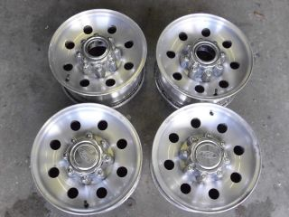 2005 FORD F250 F350 16 X 7 ALLOY WHEELS CAPS 8LUG 170MM EXCURSION OEM