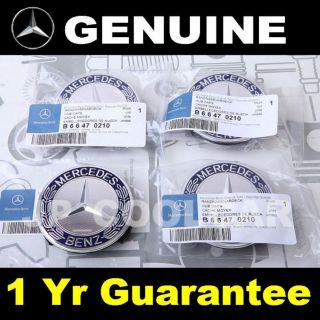 X4 Genuine Mercedes Benz Wheel Center Caps C Class W204 W203 W202 C55