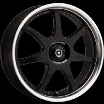 17 inch Gloss Black Motegi FF7 Rim Wheel 17x7 4 Lug New