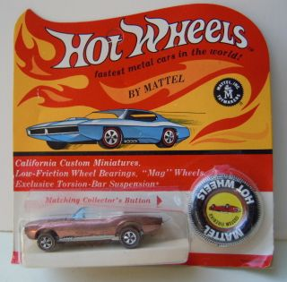 1967 Hot Wheels Custom Firebird Redline Blister Unpunched