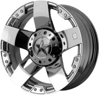18 XD Rockstar Rim Tire Toyo Open Country at Chrome