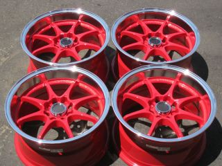 15 Konig Flat Out Red w ml Wheels Honda Civic Fit CRX Acura Integra