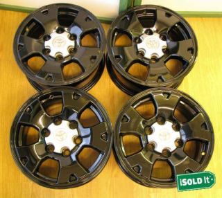 Tacoma Sequoia Tundra 4Runner T100 Gloss Black Wheels Rims