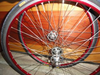 Record Track Hubs Pista Mavic Open Pro Red Anodized Rims wheel set