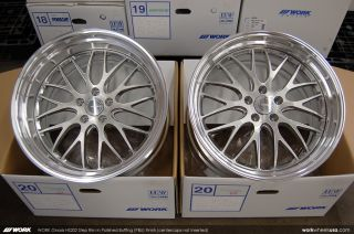 Work Gnosis HS202 Rims Wheels 20in Staggered Polished Buffing 350Z