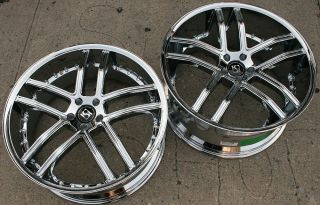 Koko Kuture Intake 22 Chrome Rims Wheels Benz CL550 rwd 22 x 9 0 10 5
