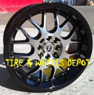 16 INCH YL094B BLCK/MACHIN RIMS AND TIRES 4X100 ACCORD CIVIC FIT