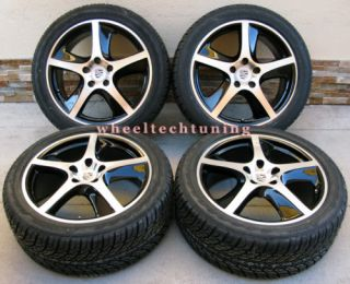 PORSCHE CAYENNE SPORT TECHNO WHEEL AND TIRE PACKAGE BLACK WHEELS RIMS
