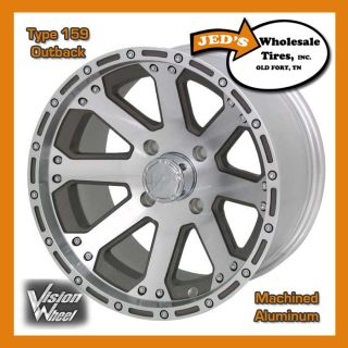 14 14x8 4x4 4ON4 4x100 Golf Cart Mini Truck Rim Wheel