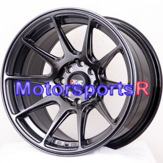 15 15x8 25 XXR 527 Chromium Black Rims Wheels Stance 98 Nissan 240sx