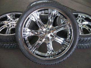 24 Wheels Rims Tires Escalade Suburban Tahoe Denali 22