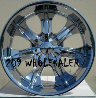 24 INCH V725 RIMS & TIRES ESCALADE YUKON EXPEDITION SILVERADO SIERRA