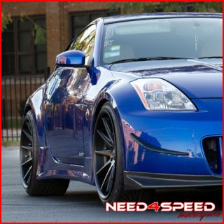 370Z Rohana RC10 Black Deep Concave Staggered Wheels Rims
