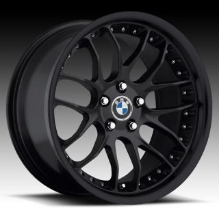 18 MRR Black GT7 Rims Wheels BMW 325 328 330 335 Z3 Z4