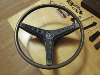 Mach 1 Mustang Steering Wheel Rim Blow Complete Works Black Woodgrain