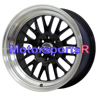 16 16x8 XXR 531 Black Wheels Rims Deep Dish Stance 4x100 98 02 Honda