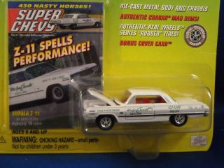 Johnny Lightning Super Chevy 1963 Impala Z 11 w Card