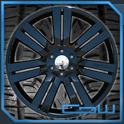 Silverado Suburban Tahoe 24 Rims and Tires Package Pre Balanced Black