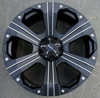Ballistic Outlaw 22 Black Rims Wheels Dodge RAM 1500