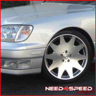 20 Lexus GS300 GS400 GS430 MRR HR3 Chrome Rims Wheels