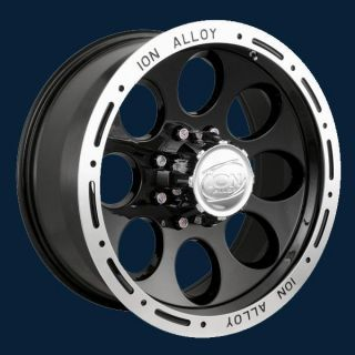 ION Alloy Style 174 Black Beadlock New Set of Wheels 16x8 Free Ship