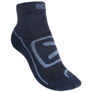 Keen Zip Hyperlite Socks   Quarter Crew (For Women)   CHARCOAL/PURPLE HEART (S )