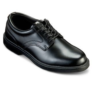 Deer Stags Times Mens Leather Oxford Shoes, Black
