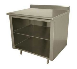 Advance Tabco Work Table w/ Galvanized Frame & Shelf, 24x96 in, 16 ga 430 Stainless