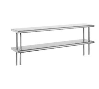 Advance Tabco 36 Old Style Table Mount Shelf   2 Deck, Rear Turn Up, 10 W, 18 ga 430 Stainless