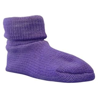 Womens MUK LUKS Cuff Slipper Sock W/ Anti Skid   Lilac