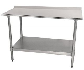 Advance Tabco 24 Work Table   1.5 Rear Splash, 24 W, 18 ga 430 Stainless Top