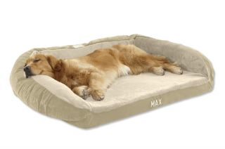 Faux fur Deep Dish Dog Bed Cover / X small, Tan