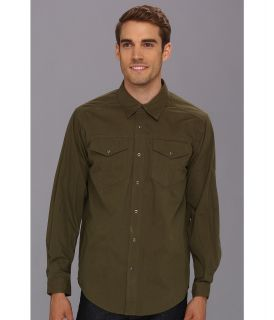ExOfficio Ansel Canvas Long Sleeve Shirt Mens Long Sleeve Button Up (Green)