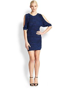 Trina Turk Cypress Marled Sweater Dress   Oasis Blue