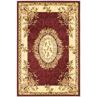 Safavieh Lyndhurst Collection Aubussons Red/ Ivory Rug (4 X 6)